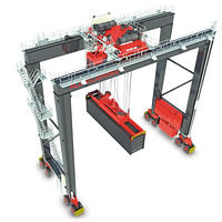 Konecranes rubber tired gantry crane 3D